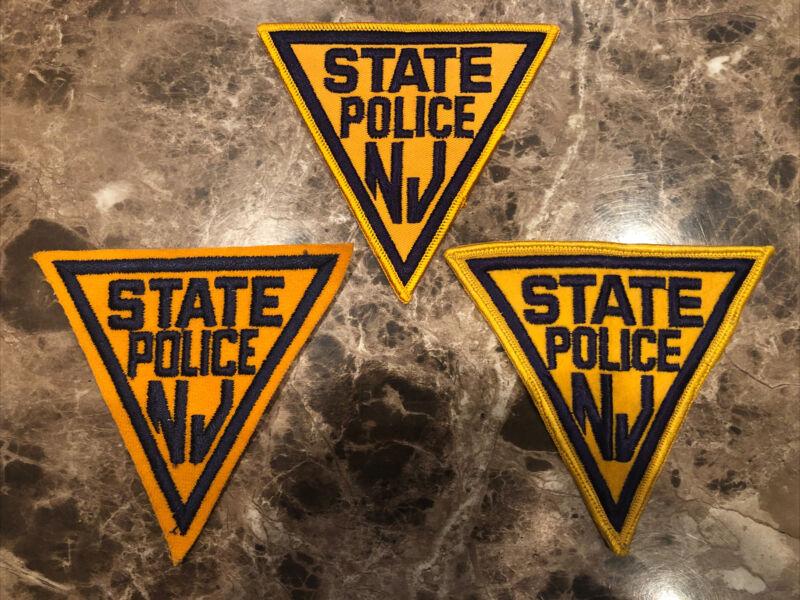 (3) Vintage Original NJSP New Jersey State Police Shoulder Patch Lot