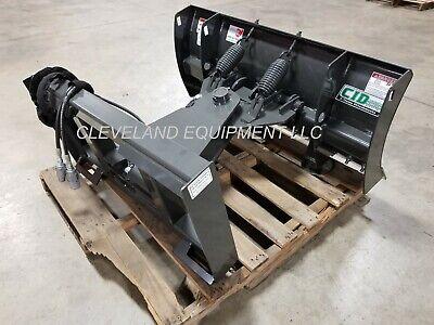 New 60 Mini Skid Steer Snow Plow Blade Attachment Bobcat Mt52 Mt55 Mt85 Mt100