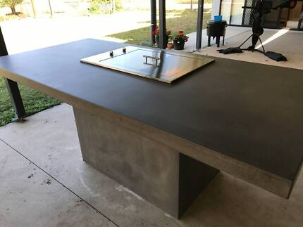 Concrete Outdoor BBQ Benchtop Table