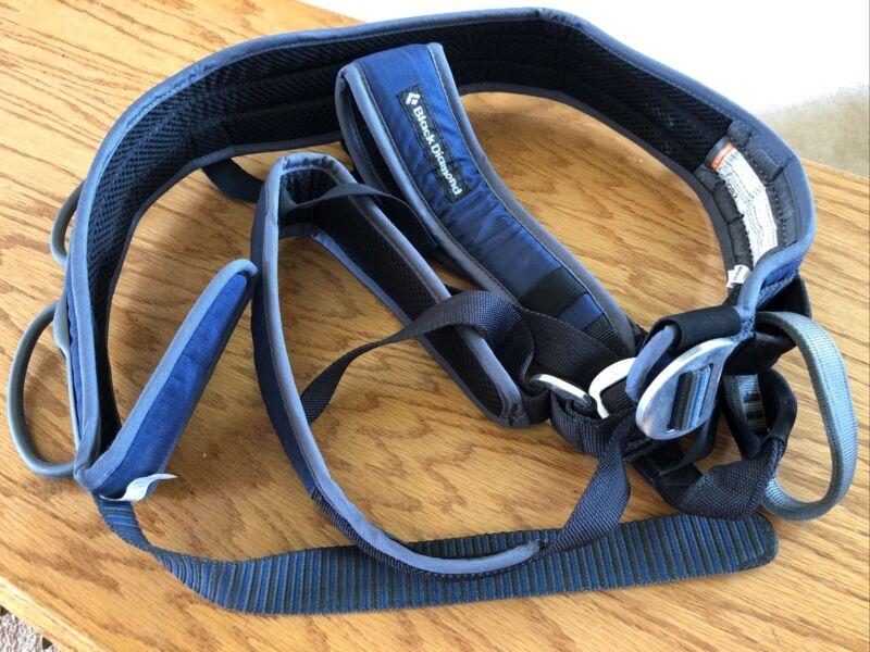 Black Diamond Momentum Blue Sit Rock Climbing Harness X-Large