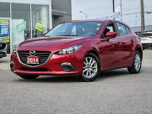 2014 MAZDA3 GS SPORT HATCHBACK SOUL RED MANUAL TRANSMISSION