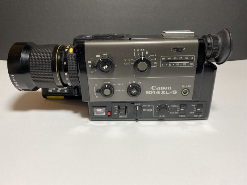 Vintage Canon 1014XL-S Super8 8MM Movie Camera As Is Parts Or Repair