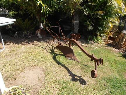 Walk Behind Farm Plough Antique Farm Equipment Brighton Brisbane North East Preview