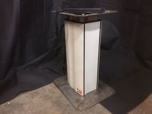 Electric adjustable pedestal