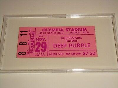 DEEP PURPLE ELO ELF 1974 TICKET STUB OLYMPIA STADIUM RITCHIE BLACKMORE JON LORD