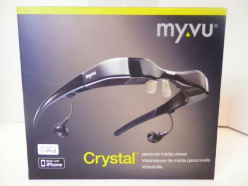 My Vu Crystal Personal Media Viewer For iPod/iPhone-VGC-Box/Charger/Pouch-FS