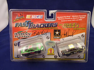 LIFE-LIKE RACING FAST TRACKERS NASCARS# 9874 INTERSTATE BATTERIES AND U.S. ARMY