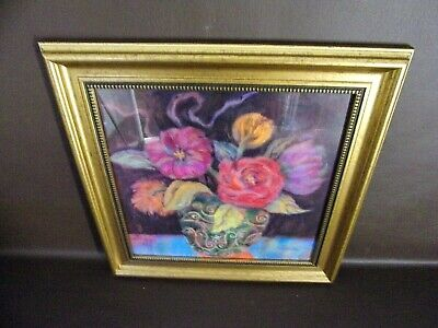 Framed Floral Print New Condition (#A14004)