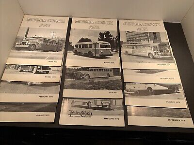 Motor Coach Age Magazine All Issues From 1973 11 Total