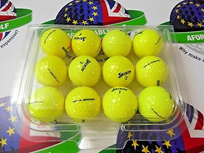 12 SRIXON Z STAR TOUR YELLOW GOLF BALLS PEARL/PEARL 1 GRADE