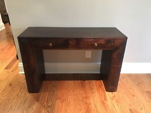 Console / Hall table or Writing Desk - walnut stained hardwood