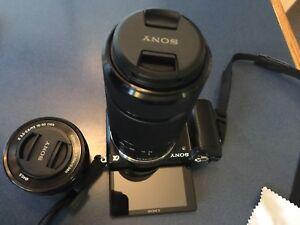Sony Alpha 5000 w/ 16-50mm + 55-215mm lens