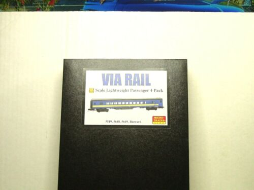 MICRO-TRAINS LINE Z SCALE 4-PACK PASSENGER SET VIA RAIL  99401210