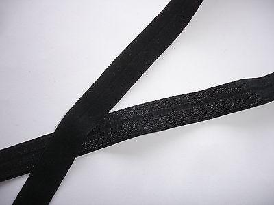 10m elastisches Band 0,25€/m schwarz Webgummi TA91