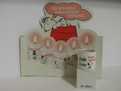 SNOOPY PEANUTS CHARLIE BROWN LOVE LIGHTS OF HOLLAND CANDLE VOTIVE HAPPY BIRTHDAY ()
