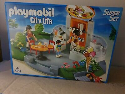 Playmobil 4134 Ice Cream Shop / Parlor Clearnace End Of Line Bargain