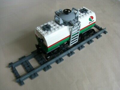 "Lego CITY TRAIN: Custom ""OCTAN"" TANK CAR ...VG"