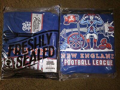 Tom Brady New England Patriots Johnny Cupcakes NFL Shirt Super Bowl Rare USA