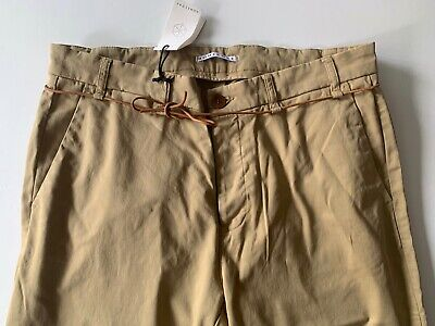 homecore LEATHER CORD TIE pants chinos 36 NEW