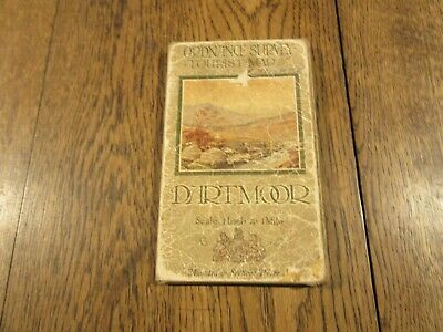 1927 ORDNANCE SURVEY ONE INCH  MAP TOURIST EDITION DARTMOOR