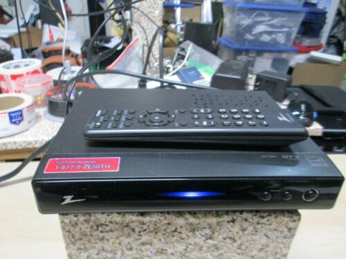 Zenith DTT901 Digital TV Tuner Converter Box WITH REMOTE NO CABLES