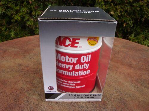 Ace Motor Oil 55 Gallon Drum Coin Bank by 1st Gear NIB