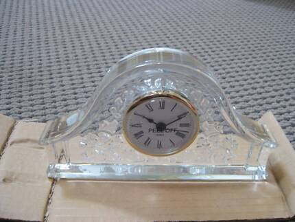 Great Fathers Day Present - Bohemia Crystal Clock. Brand New. Belair Mitcham Area Preview
