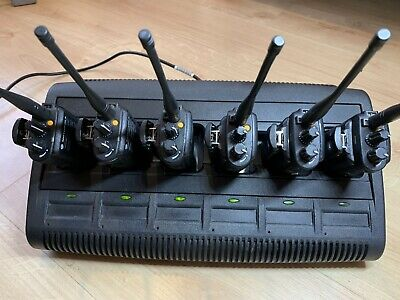 Motorola DP4400 UHF x 6 Two-Way Radios w/Batteries and Impres Multi Charger