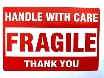 Fragile Stickers - 50 2x3 Handle With Care Packing Packaging Shipping Labels