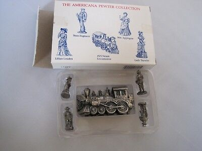 American Pewter Collection Miniatures Dillards 5 Figures w Box