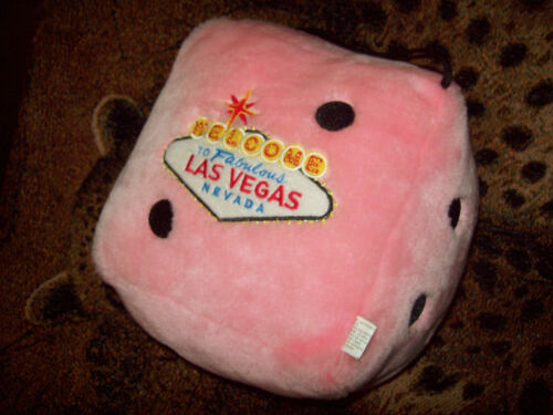 Welcome to Las Vegas Jumbo Plush Pink Dice EUC Great Gift...