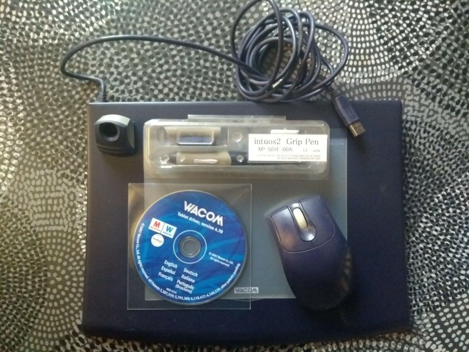 Tablette graphique wacom intuos 2 (modèle xd-0608-u0a) + accessoires + drivers