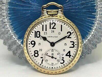 1951 Hamilton 992B Railway Special 24 Hr. Dial, BOC Case Pocket Watch SERVICED!