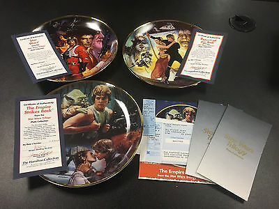 Star Wars Trilogy The Hamilton Collection 3 Plate Lot
