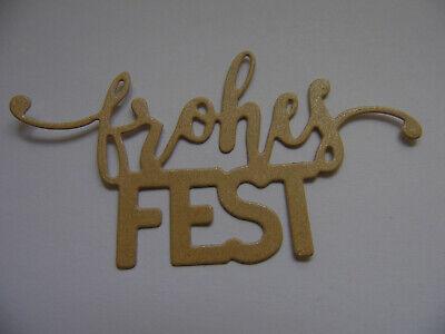 lonen  - FROHES FEST - Weihnachten Schriftzug Schrift (Schriftzug Schablonen)