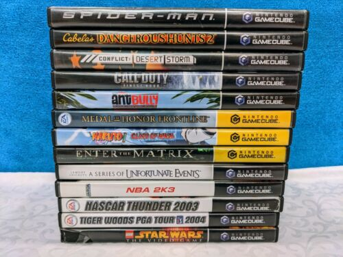 Lot of 13 Nintendo GameCube Games - No Duplicates - Tested