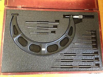 Starrett 224 6-12 Micrometer W Standards Anvils Case
