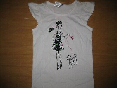 NWT Gymboree Daisy Park Size 5 White Girl Walking Dalmatian Dog Shirt Top Baby Daisys Walk