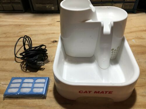 Cat Mate Pet Fountain Multi Height Drinking Stations For Cats Dogs 70 Fl Oz - $14.99