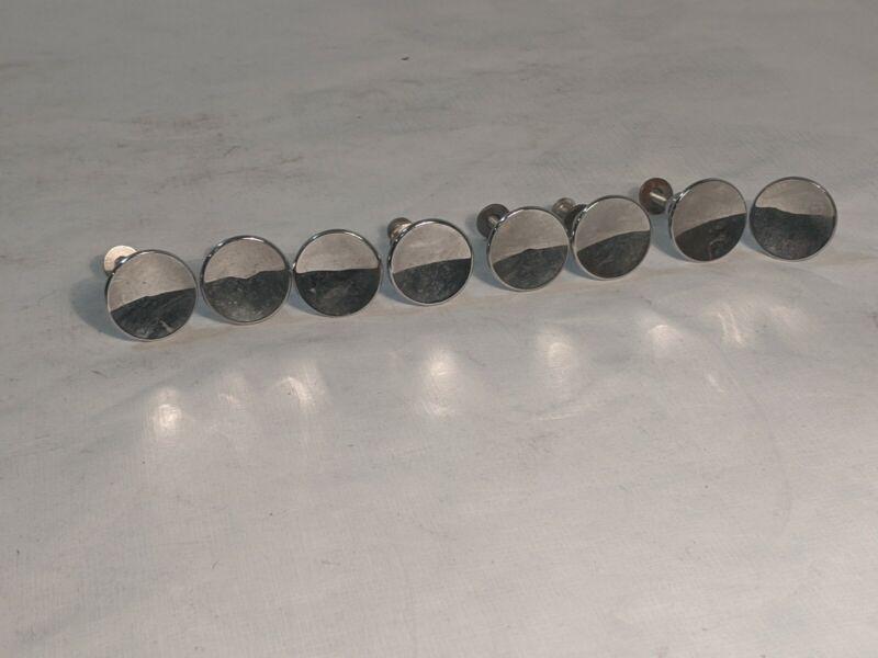8 Vintage Chrome Mid Century Cabinet Knobs Drawer Pulls