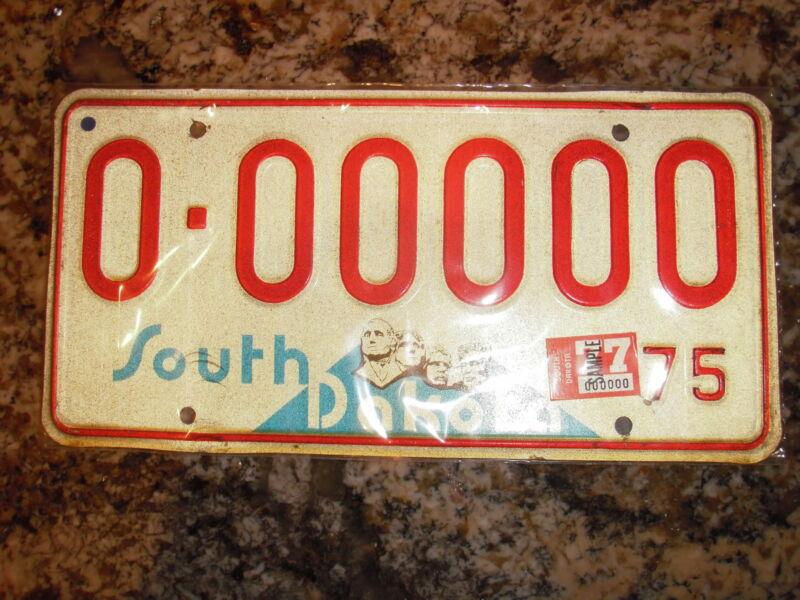 1977 SOUTH DAKOTA SAMPLE LICENSE PLATE
