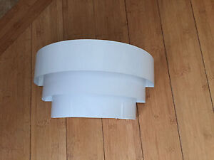 White decorative wall sconce
