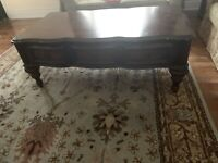 Antique furniture bed queen size buffetcarpet TV coffee table