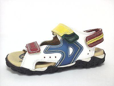 Sandals PRIMIGI White Multi Leather Kids Walking Shoes Size 1.5 Youth (Youth White Multi Kids Shoes)