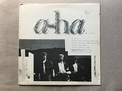 """a-ha – """"Take On Me"""" 1985 Rare US Promo 1st Pressing 12"""" Single Vinyl Record EX!"""