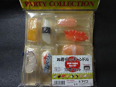 SUSHI CANDLE 10 pcs SET JAPAN Sushi