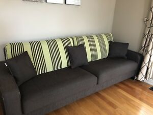 Long German made modern sofas