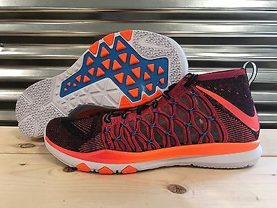 Nike Train Ultrafast Flyknit AMP Shoes Crimson Orange SZ 11.5 ( 844645-685 ) for sale  Shipping to Nigeria
