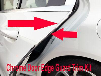 4pcs CHROME DOOR EDGE GUARD Flexible Protection Trim Molding for MBZ 2002-2018