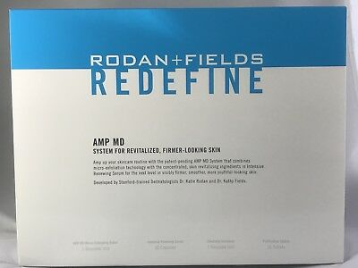 Rodan and Fields REDEFINE AMP MD System Roller Kit Anti-aging NEW SEALED